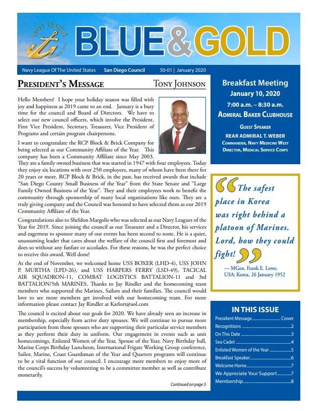 Blue & Gold Newsletter