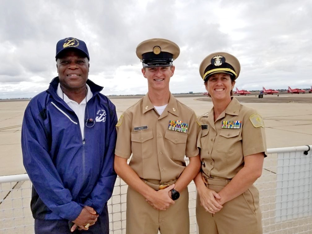 Cody Ward was promoted to Chief petty officer at MCAS Miramar Air Show