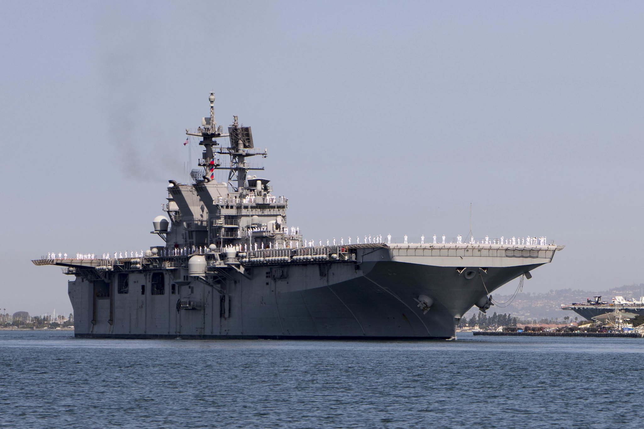 The USS Tripoli Arrives in San Diego