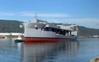 USNS Miguel Keith Arriving at Vigor Shipyard in Portland
