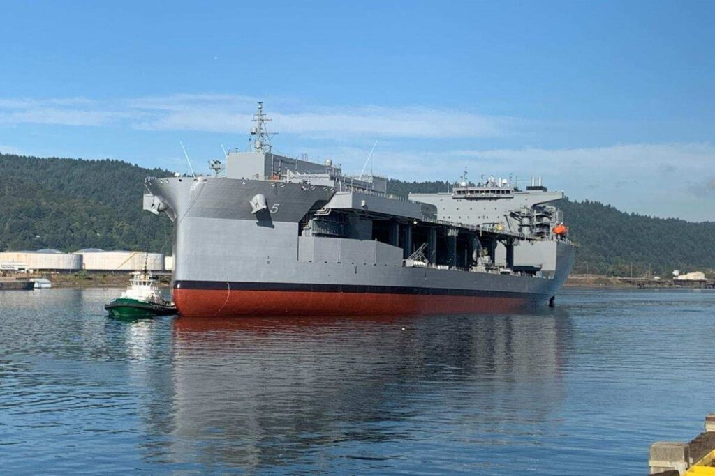 USNS Miguel Keith Arriving at Vigor Shipyard in Portland