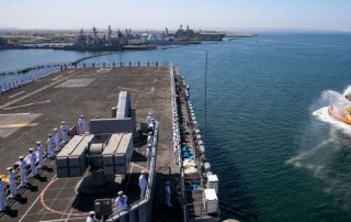 Navy Ships Returned to San Diego After a Seven-Month Deployment